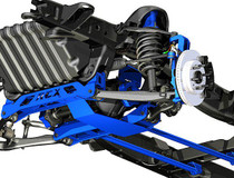 6in GM Suspension Lift Kit (07-13 1500 PU 4WD) shown in blue