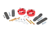 2.5in Nissan Suspension Lift Kit (05-19 Frontier/Xterra 4WD-2WD) Anodized Red