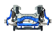 4in Ford Suspension Lift Kit (04-08 F-150 4WD) kit parts in blue