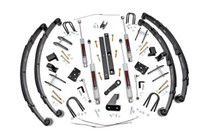 4.5in Jeep X-series Suspension Lift Kit (Military Wrap Springs)(87-95 Wrangler YJ 4WD)