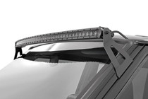 50-IN Cree Curved LED Light Bar (Single Row / Chrome Series) mounted view