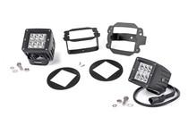 Jeep 2-Inch Cree LED Fog Light Kit (Chrome Series  07-09 Wrangler JK)