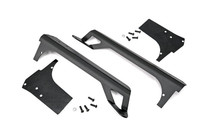 Jeep 50IN Straight LED Light Bar Upper Windshield Mounts (97-06 TJ) - Black Powder Coat