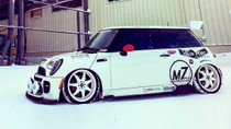 2002-2008 Mini Cooper (R50/52/53 Air Lift Kit with Manual Air Management- Side View