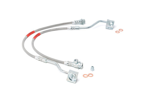 80-96 Ford F150/Bronco 4WD Extended Front Stainless Steel Brake Lines