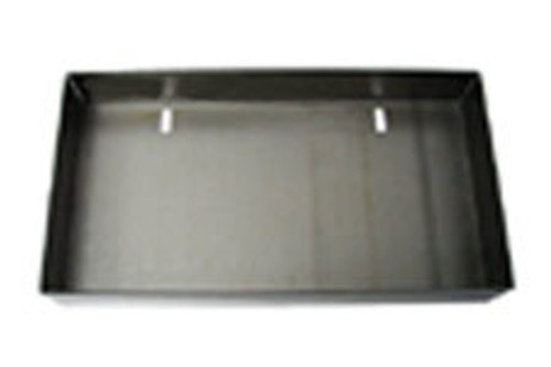Weld-in license plate box with no light. Relocate the license to the tailgate or roll pan on any truck.