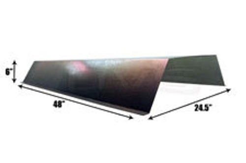 "Steel hex notch cover 24.5"" X 48"" X 6"""