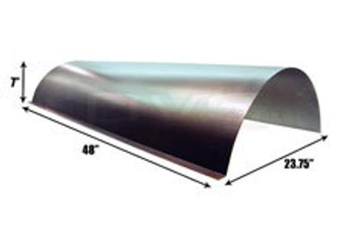 "Steel round notch cover 23.75"" X 48"" X 7"""