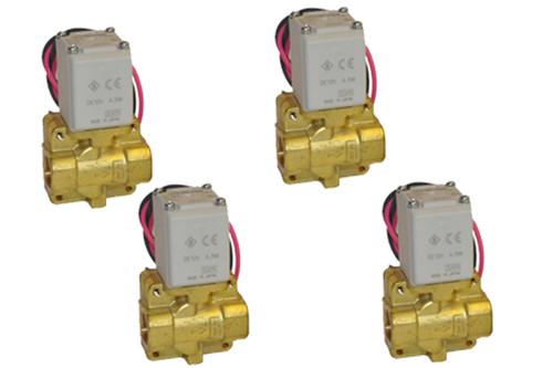 "4 pack of 1/4"" SMC pneumatic air valves"