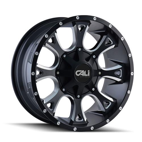 Cali Off-Road Anarchy Satin Black/Milled Spokes 20X12 6-135/6-139.7 -44mm 108mm