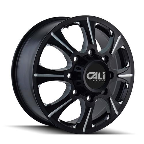 Cali Off-Road Brutal Front Black/Milled Spokes 22X8.25 8-165.1 127mm 116.7mm