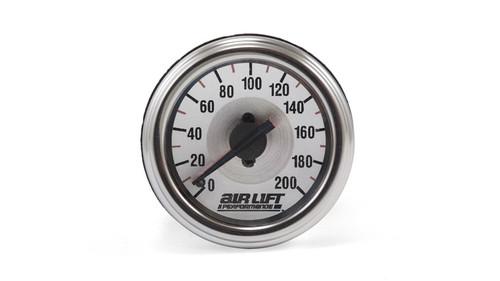 Dual needle 200 psi pressure gauge.