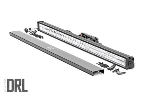 50-IN Cree LED Light Bar (Dual Row / Chrome Series w/ Cool White DRL)