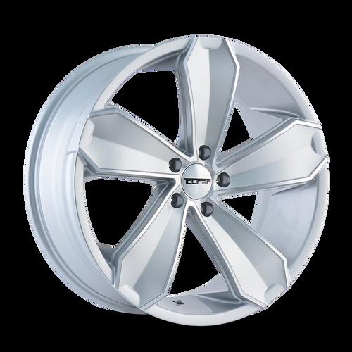 Touren TR71 Gloss Silver/Machined Face 20X8.5 5-112 30mm 66.56mm