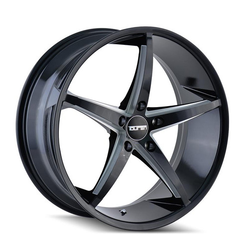 Touren TR70 Black/Milled Spokes 20X8.5 5-115 20mm 72.62mm