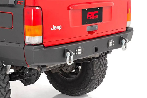 Jeep Rear LED Bumper (84-01 Cherokee XJ) mounted view