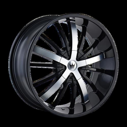 Mazzi 364 Essence Gloss Black / Machined Face 20X8.5 5-112/5-120 35mm 72.56mm