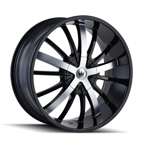 Mazzi 364 Essence Gloss Black / Machined Face 20X8.5 5-115/5-120 18mm 74.1mm