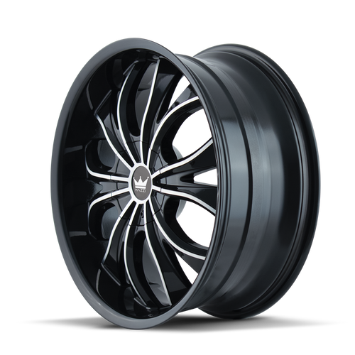 Mazzi 342 Hustler Gloss Black/Machined Face 18X7.5 5-110/5-115 40mm 72.62mm