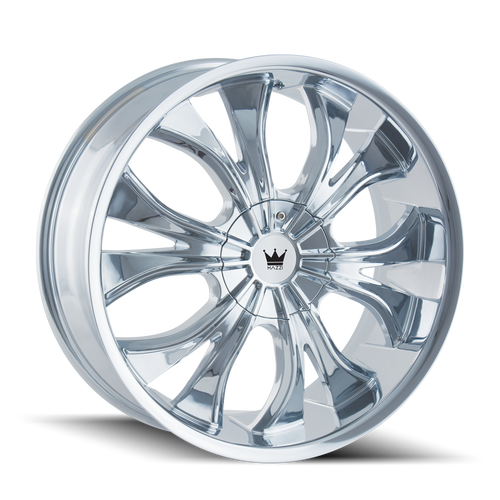 Mazzi 342 Hustler Chrome 22X9.5 5-115/5-120 18mm 74.1mm