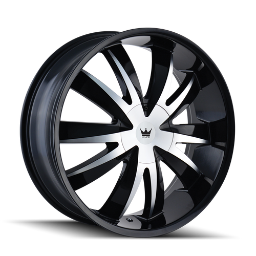 Mazzi 337 Edge Gloss Black/Machined Face 20X8.5 5-115/5-120 18mm 74.1mm