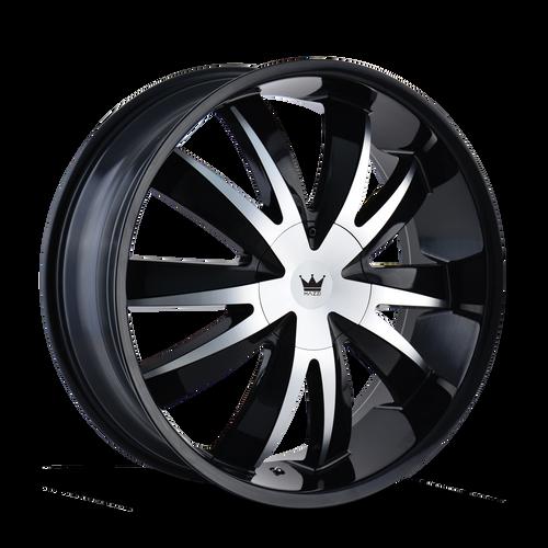 Mazzi 337 Edge Gloss Black/Machined Face 18X7.5 5-112/5-120 40mm 72.62mm