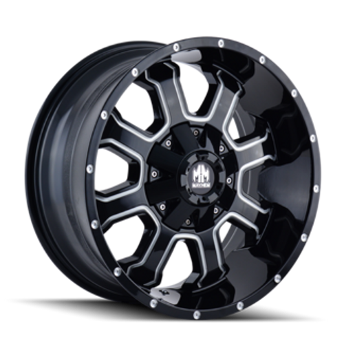 Mayhem Fierce 8103 Gloss Black/Milled Spokes 20X9 8-165.1/8-170 0mm 130.8mm