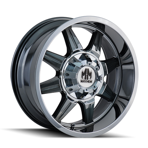 Mayhem 8100 PVD2 Chrome 20X9 8-180 18mm 124.1mm