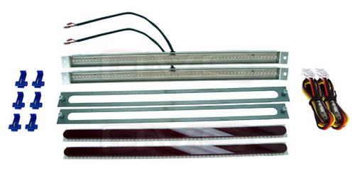 """15.5"""" Red LED AVS Tail Light Kit With Red Lenses"""