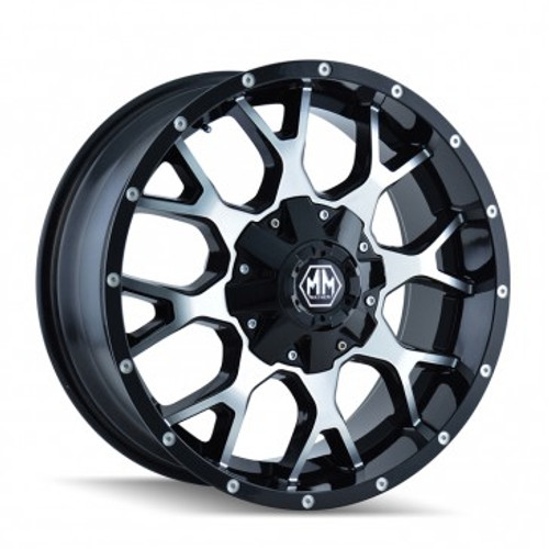 Mayhem 8015 Warrior Black/Machined 17X9 5-127/5-139.7 18mm 87mm