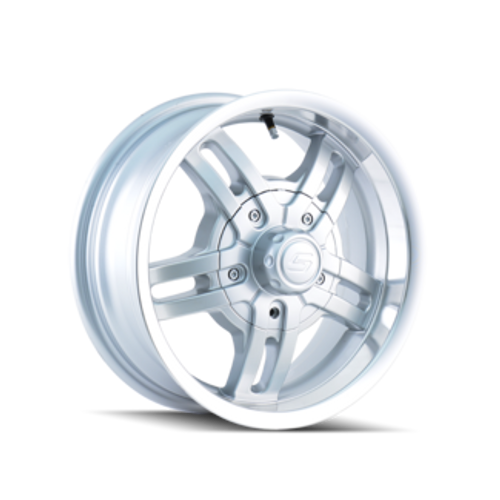 Ion Trailer Wheels 12 Hypersilver 14X6 5-114.3 0mm 83.82mm