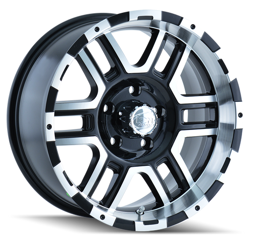 Ion 179 Black/Machined Face/Machined Lip 16X8 5-114.3 10mm 83.82mm