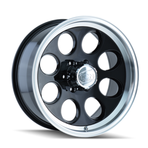 Ion 171 Black/Machined Lip 16X10 8-165.1 -38mm 130.8mm