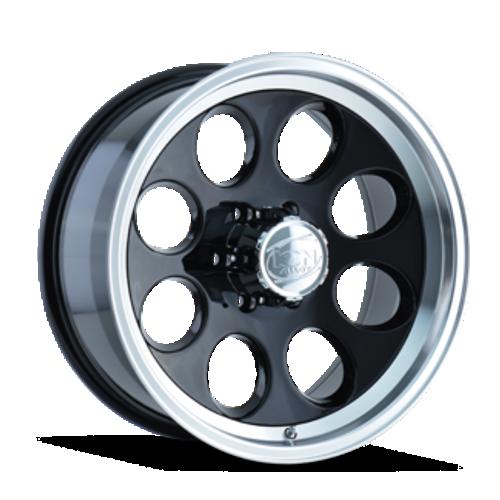 Ion 171 Black/Machined Lip 16X8 6-139.7 -5mm 108mm