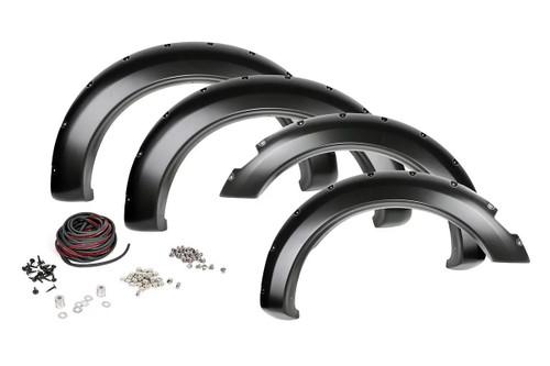 RAM Pocket Fender Flares w/ Rivets (2019 RAM 1500) Unpainted
