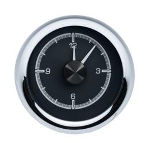1955-56 Chevy Car Clock for HDX Instruments with Black Alloy background