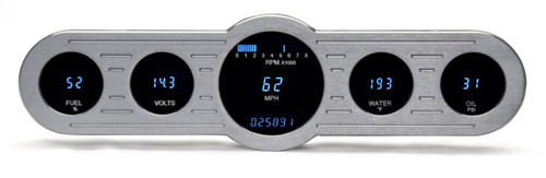 "Universal 4"" x 14.5"" Street Rod Panel, Digital Instrument"