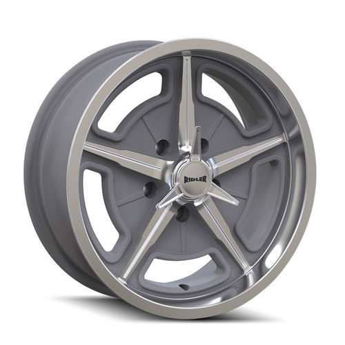 Ridler 605 Machined Spokes & Lip 17X8 5-127 0mm 83.82mm Front View