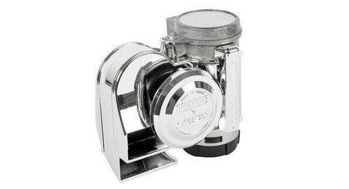 No Cover - Chrome Dual Tone Motorcycle Air Horn