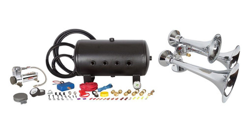 Marine Chrome Outlaw Train Horn Kit - 5 Gal Tank (Separate Tank & Compressor)