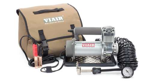 Viair 400P 12-Volt Portable Air Compressor w/ 25 FT Coil Hose & Tire Chuck