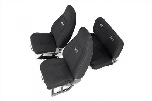 Jeep Neoprene Seat Covers Set (91-95 Wrangler YJ) Black