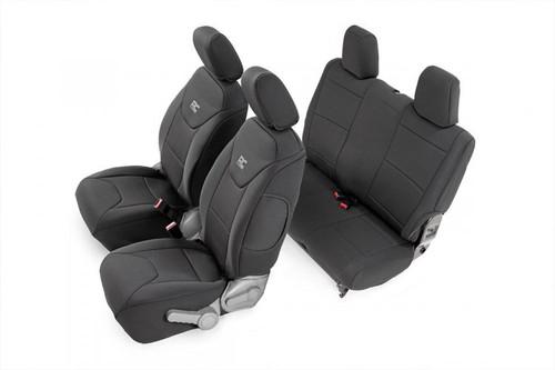 Jeep Neoprene Seat Covers Set | Black (11-12 Wrangler JK Unlimited)