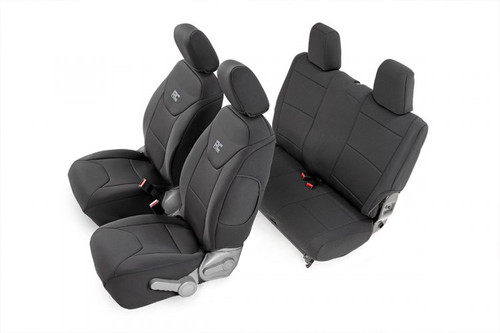 Jeep Neoprene Seat Covers Set | Black (13-18 Wrangler JK | 2-Door)