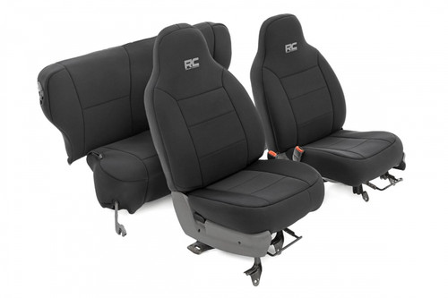 Jeep Neoprene Seat Covers Set | Black (84-01 XJ)