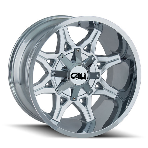 Cali Offroad Obnoxious 9107 Chrome 24x12 6x135/6x5.50 -44mm 106mm - front view