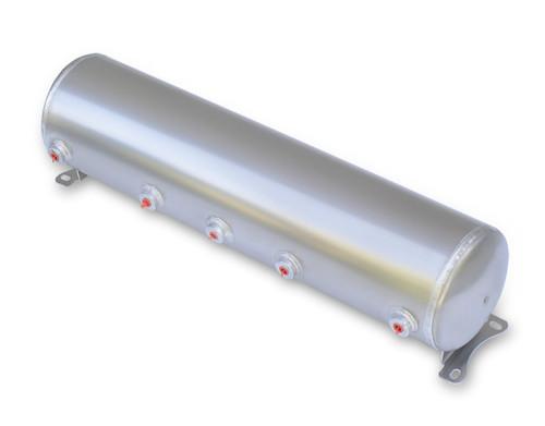 """Air Tank- 5 Gallon Aluminum w/ 5x-1/4"""" Ports & 1x-1/8"""" Port"""