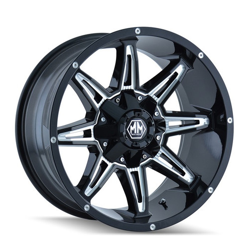 Mayhem Rampage 8090 Black/Milled Spokes 17x9 8x180 18mm 124.1mm