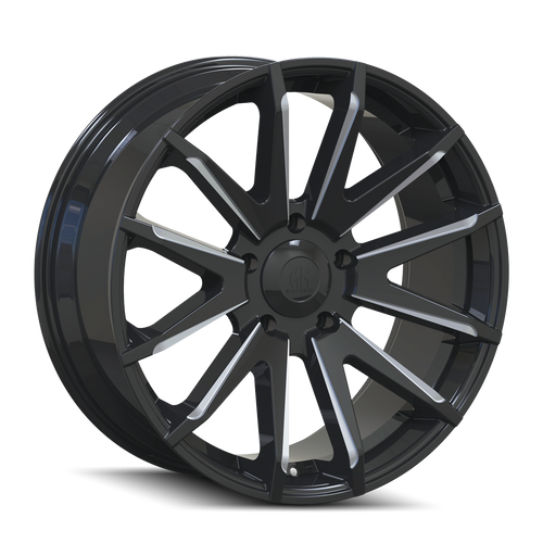 Mayhem Crossfire 8109 Gloss Black/Milled Spokes 20x9.5 5-150 25mm 110mm