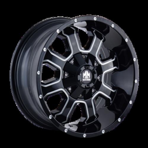 Mayhem Fierce 8103 Gloss Black/Milled Spokes 20X10 8x165.1/8x170 -19mm 130.8mm